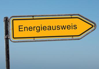 Strassenschild 38 - Energieausweis