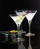 Naklejka Martini glasses
