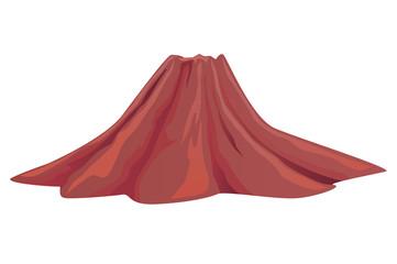 Inactive or dead volcano vector icon