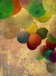 ballons alt bunt textur