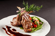 rack of lamb with vegetables and sauce - 80131587