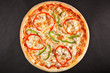 Tasty Italian pizza with pepper sweet cheese and chicken - 80131775