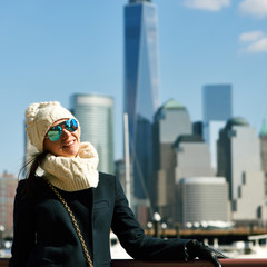 Woman in New York City