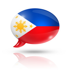 Philippines flag speech bubble