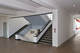 Bauhaus Dessau Treppenaufgang poster