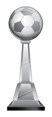 Soccer Trophy - Crystal