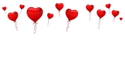 Herz Luftballons rot