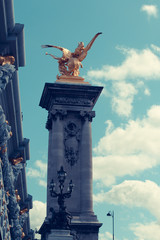 Alexander 3 bridge in Paris. France.