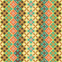 seamless pattern of squares in vintage style