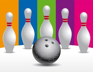 Bowling Pins and Bowling Ball Set