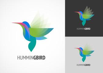 Tropical bird - humming vector icon