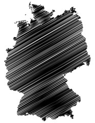 Germany map with scribble effect
