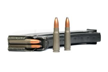 Ak-47 magazine and shells