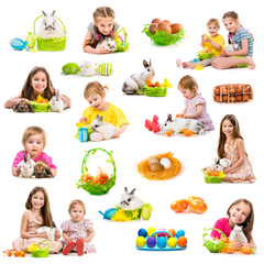 easter photo collection of children