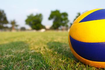 big volleyball yellow