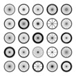 Bicycle wheels vector illustration - 80139514