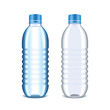 Plastic bottle for water isolated on white vector - 80140127