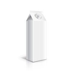 White carton packaging for milk or yogurt