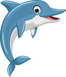 cute dolphin cartoon jumping - 80140399