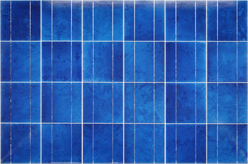 View of polycrystalline photovoltaic cells
