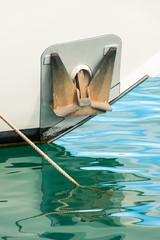 Ancla en un barco