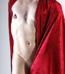 partly nude male body