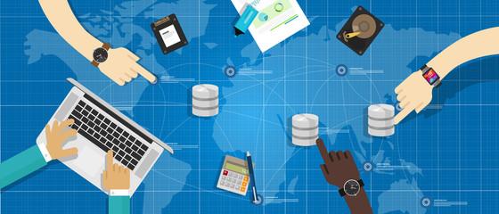manage database distribution