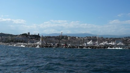 View of the port from the Mediterranean Sea.