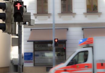 Krankenwagen Unfall Hilfe