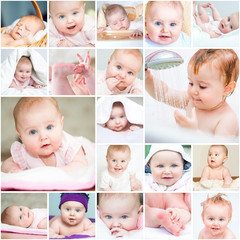 collage of a beautiful baby