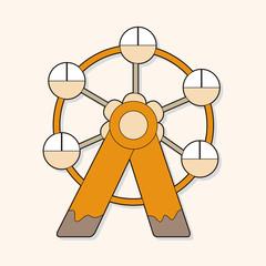 Ferris wheel theme elements