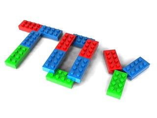 Written with toy bricks
