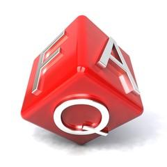 Red faq cube