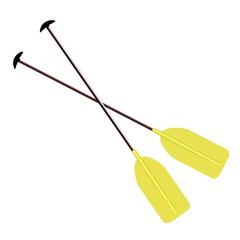 Realistic illustration sport oar