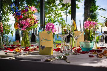 draußen Catering at wedding