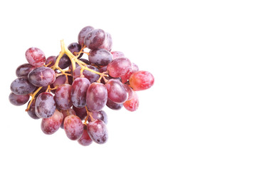 Ripe Bunch of red Grapes