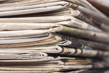 Newspaper. Pile of newspapers