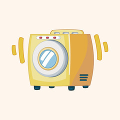 Washing machine theme elements