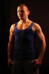 athlete in undershirt