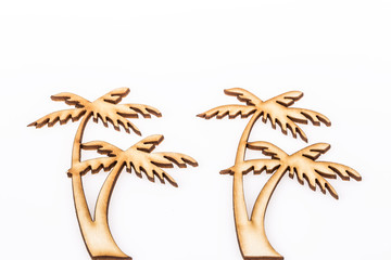 wooden carved palm trees