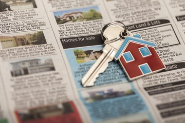 Real Estate. Business - Keys to the House Close Up