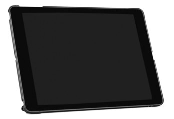 Tablet. Modern black tablet pc isolated on white with clipping