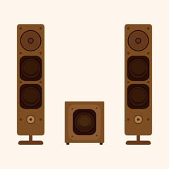 stereo speakers theme elements