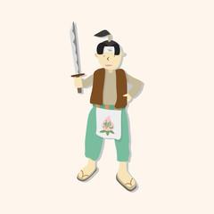 Momotaro cartoon theme elements