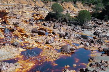 The Río Tinto (red river) is a river in southwestern Spain