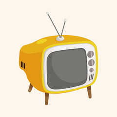 Home appliances theme tv elements