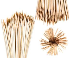 many wooden toothpicks