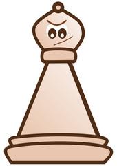 Light bishop chess piece
