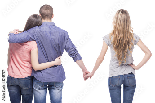 Leinwanddruck Bild Problems in relationships