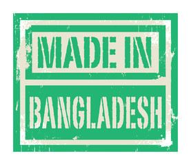 Abstract stamp or label with text Made in Bangladesh